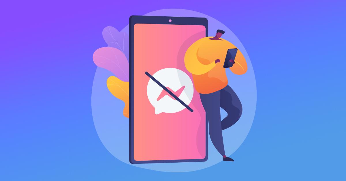 Skicka meddelande till en person som blockerat dig på Facebook